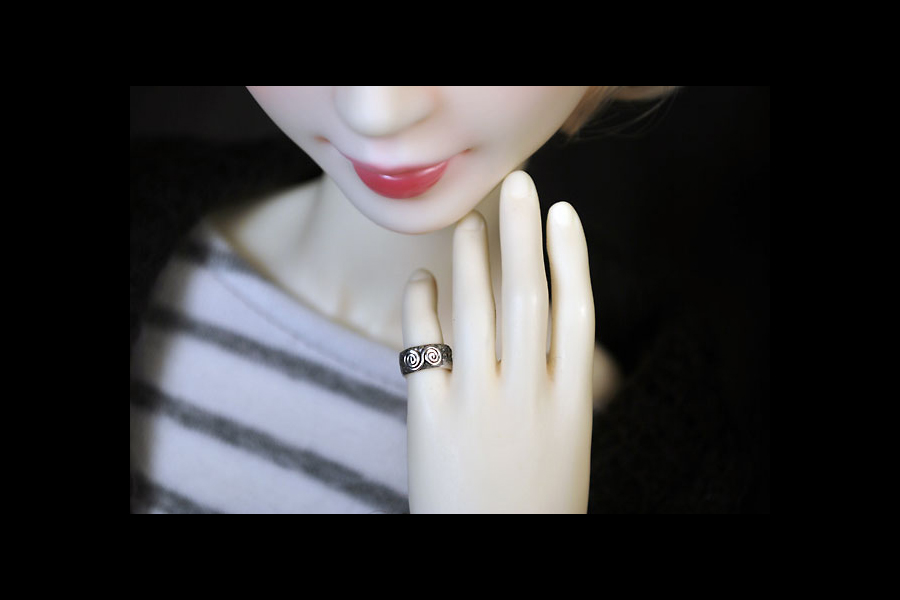 the horned moon with one bright star orangebabydolly handcrafted bjd jewelry sterling silver ring