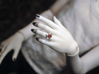 2208 garnet star ring