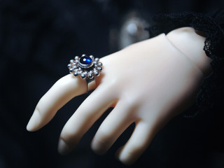 2203 sapphire Bali ring