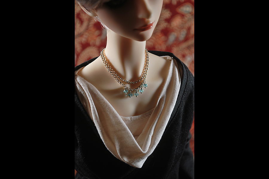 the horned moon with one bright star orangebabydolly apatite necklace handcrafted bjd volks sdgraffiti cristal