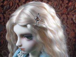 2305 citrine lotus hair slide